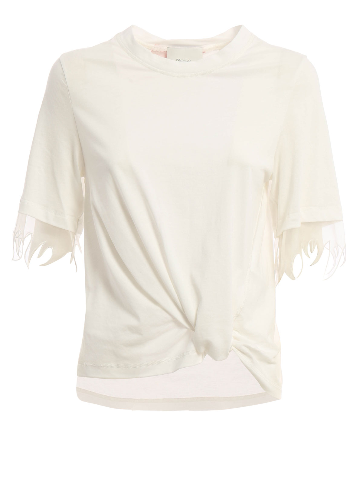 Silk sleeve eclectic cotton t shirt by phillip lim t for Cotton silk tee shirts
