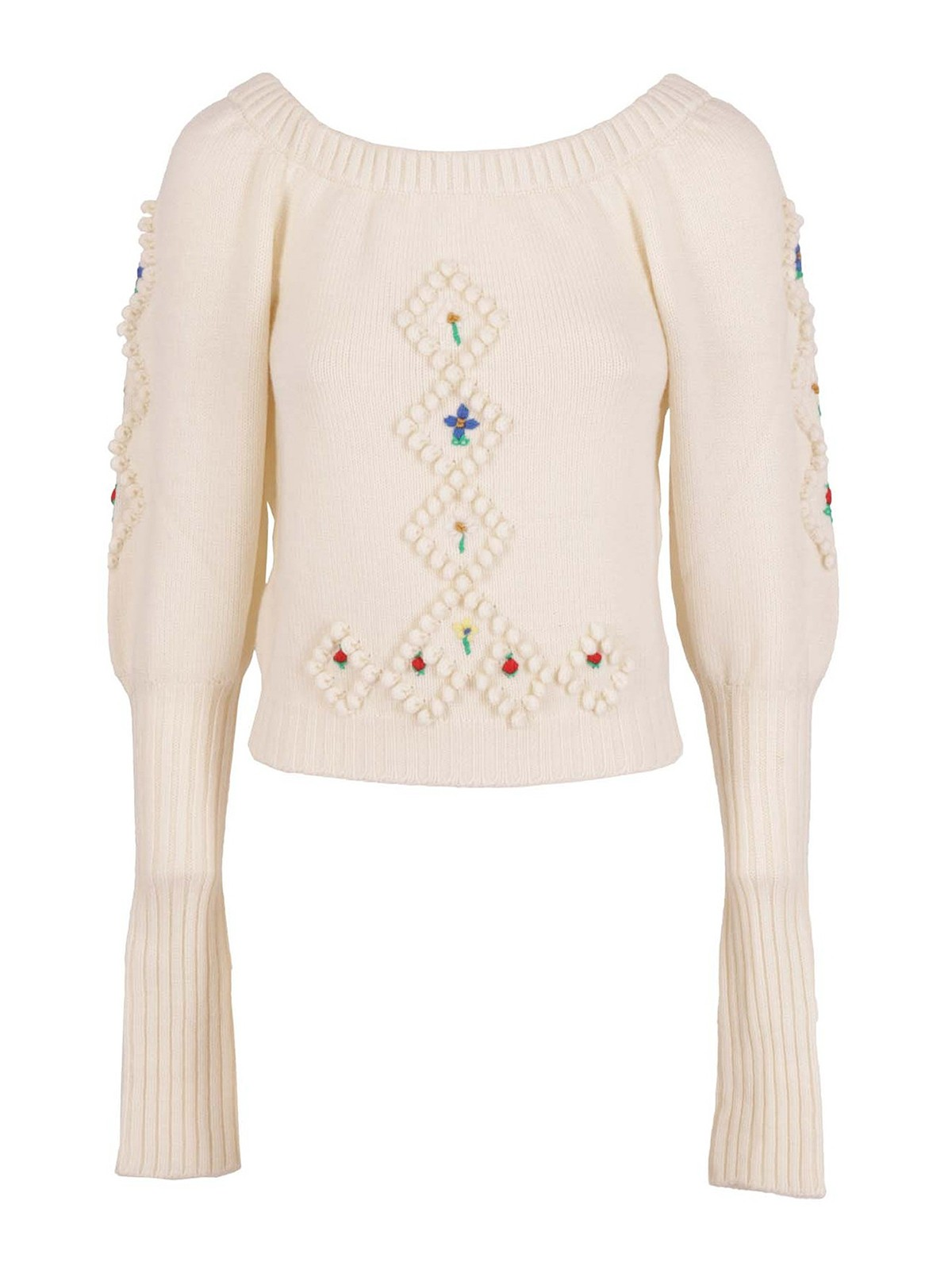 Philosophy Di Lorenzo Serafini EMBROIDERED DETAILED WOOL SWEATER