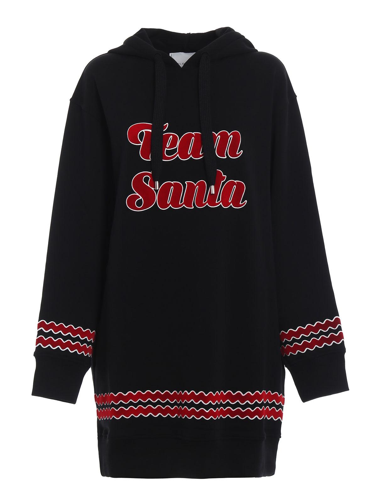 4019afa6c097 Philosophy di Lorenzo Serafini  abiti al ginocchio - Maxi felpa a vestito  nera Team Santa