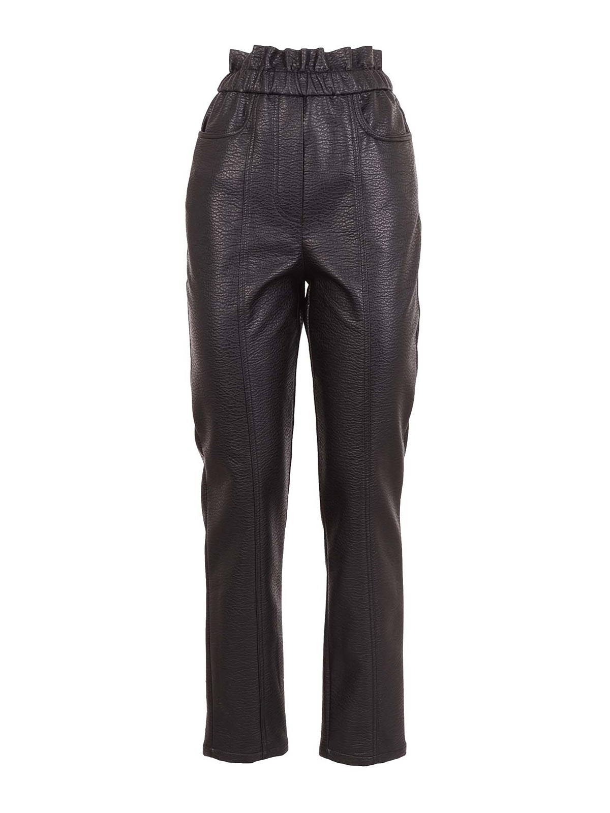 Philosophy Di Lorenzo Serafini FAUX LEATHER TROUSERS