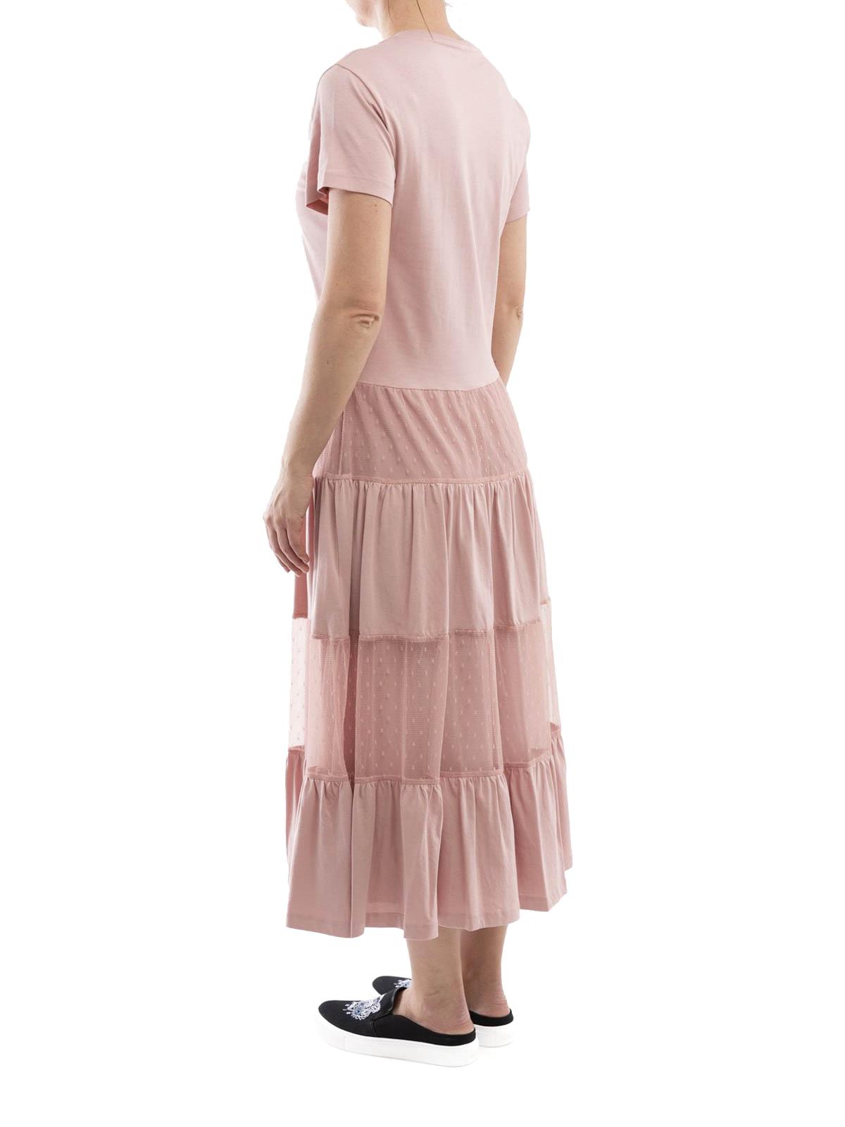 cheaper 75b8c 24340 Red Lunghi Jersey Lungo Abiti Valentino Abito Cotone In Rosa ...