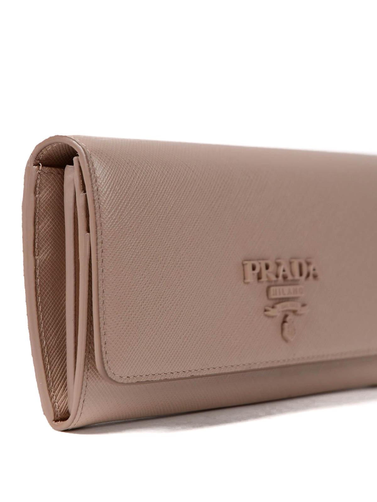 51e4f6047313 ... sale pink saffiano continental wallet shop online prada 89f7d 30683 ...