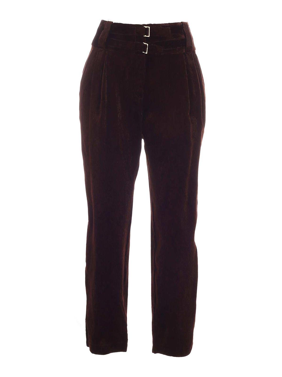 Pinko CORDUROY PANTS IN BROWN