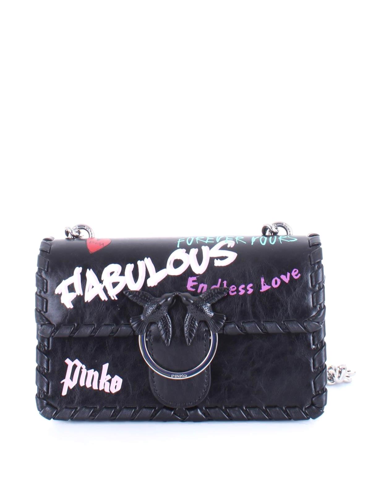 huge discount 417bc 0685b Pinko - Mini Love Bag Fabulous nera - borse a tracolla ...