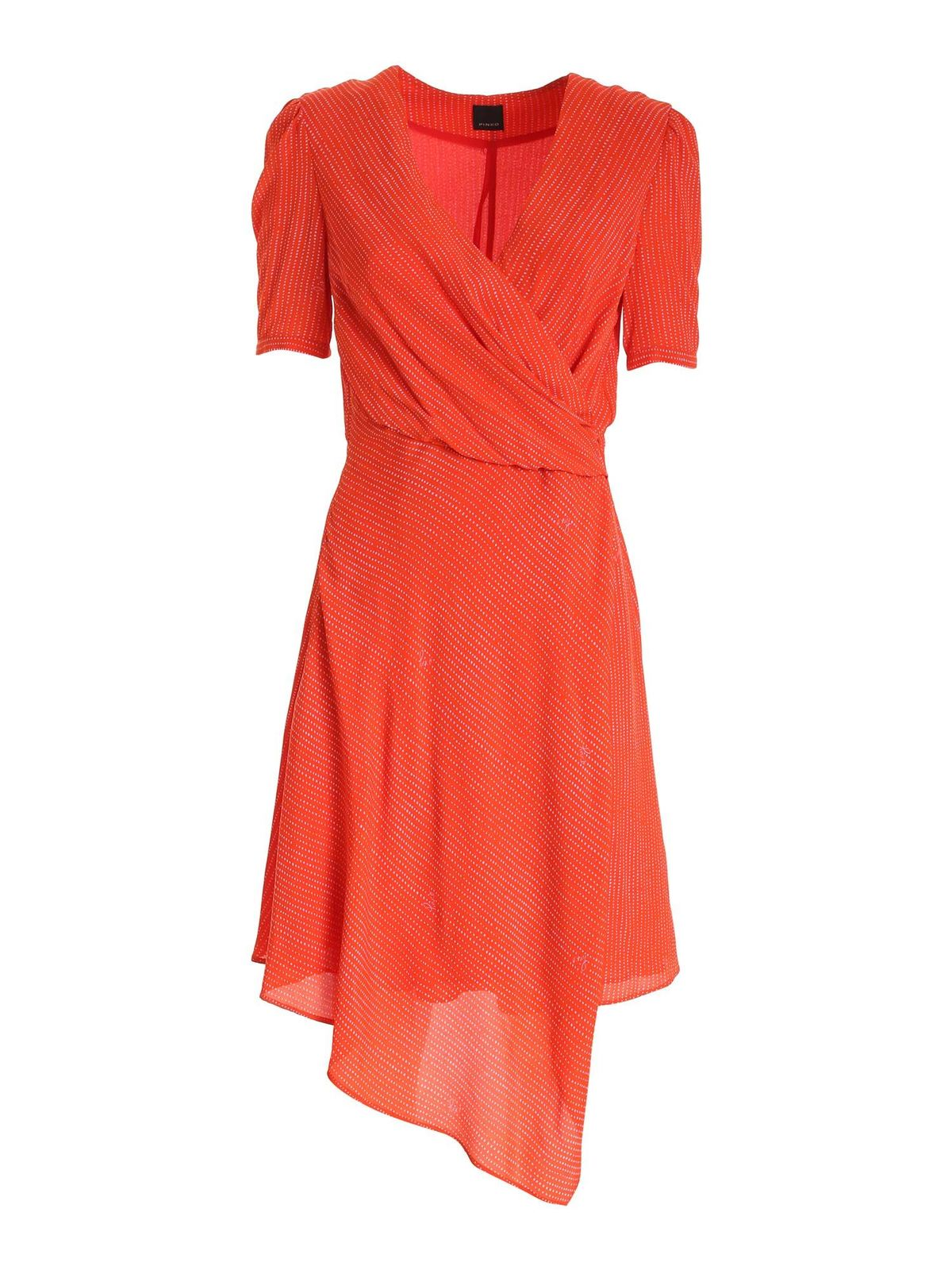 Pinko MAGIO DRESS IN CORAL RED