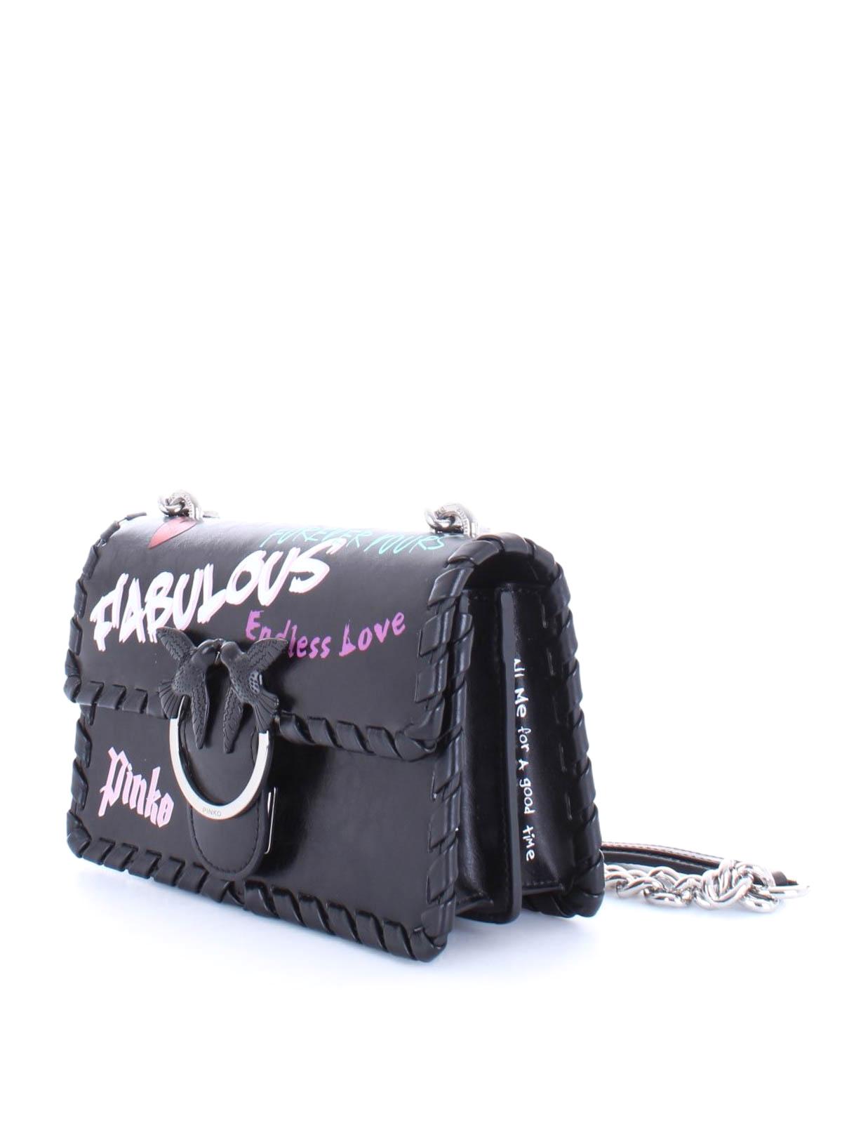 huge discount 7ca74 ee641 Pinko - Mini Love Bag Fabulous nera - borse a tracolla ...