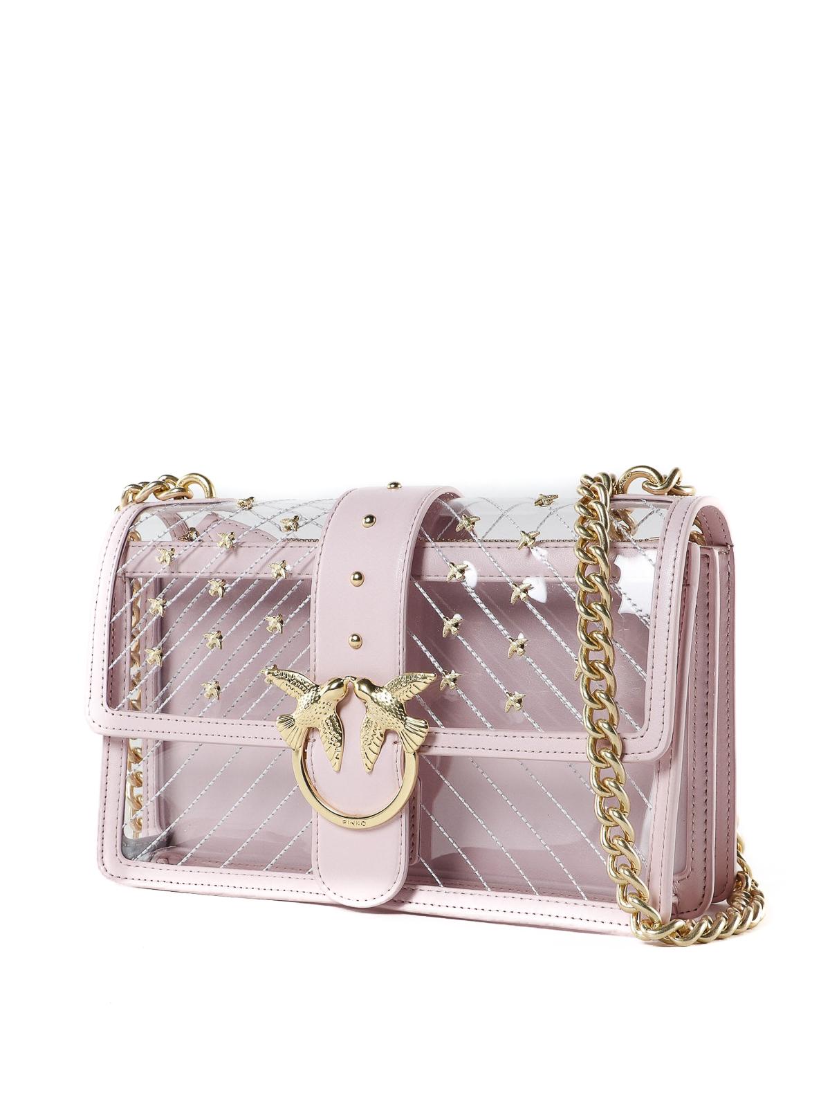 online store 6034f a2b97 Pinko - Love Bag in PVC trasparente - borse a tracolla ...