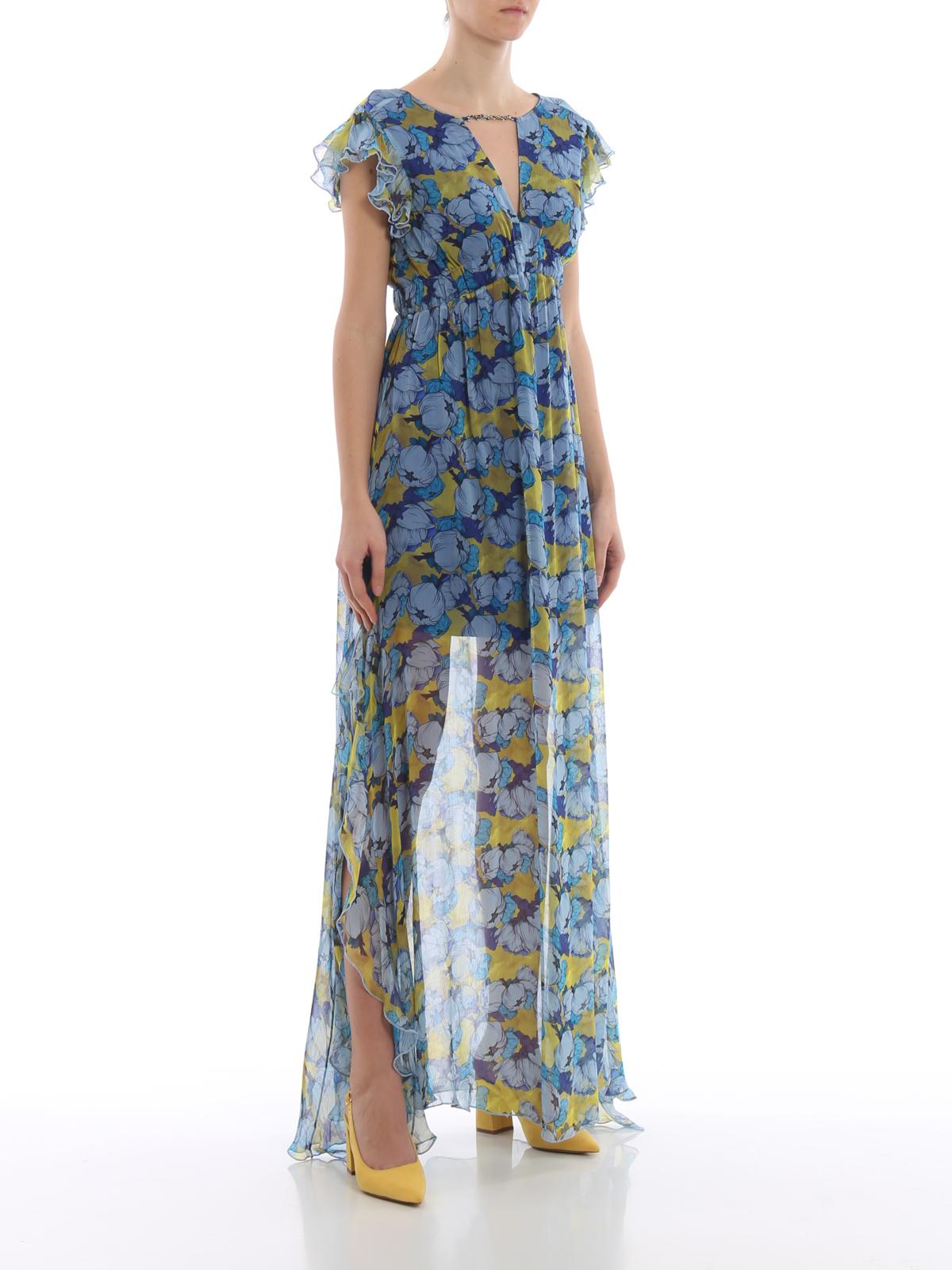 new style 5b396 de120 Pinko - Abito lungo Proibitivo in georgette a fiori - abiti ...