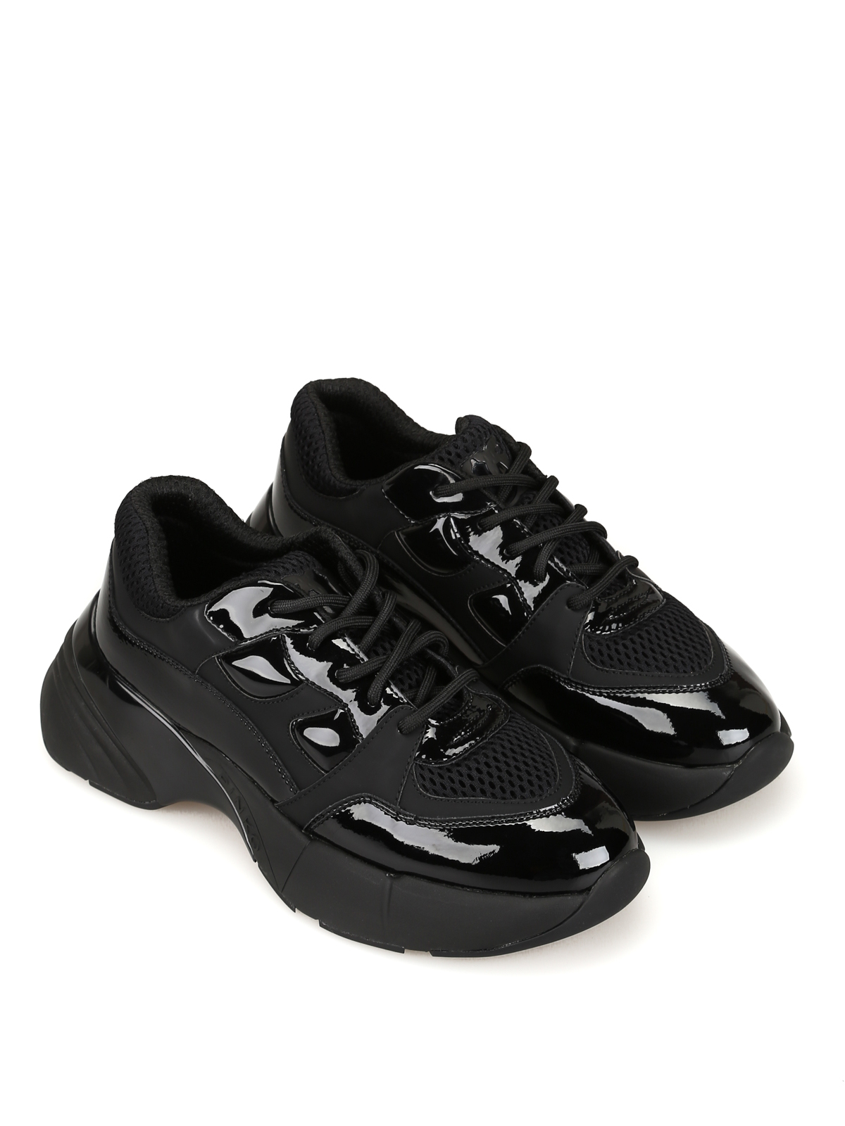 hot sale online 04c3f 02800 Pinko - Rubino black sneakers - trainers - 1H20LSY5BPZ99 ...