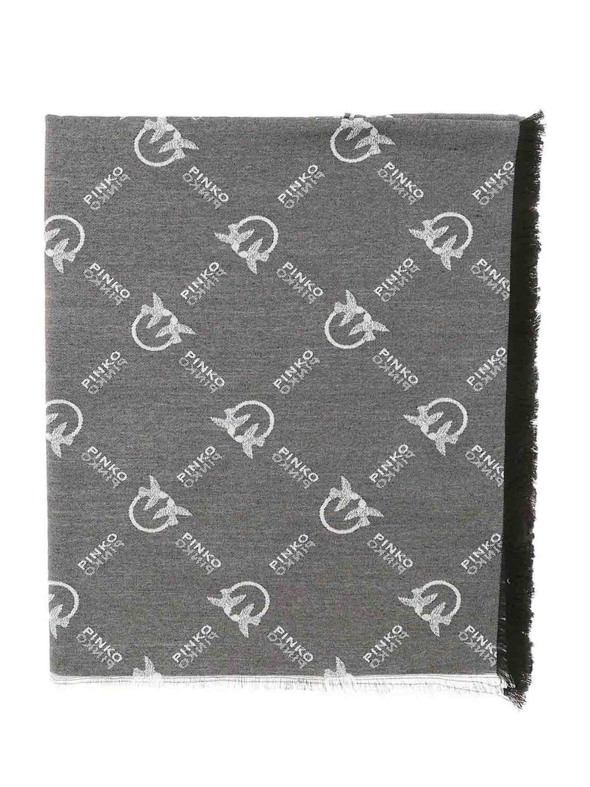 Pinko Brevis 1 Scarf In Black And White