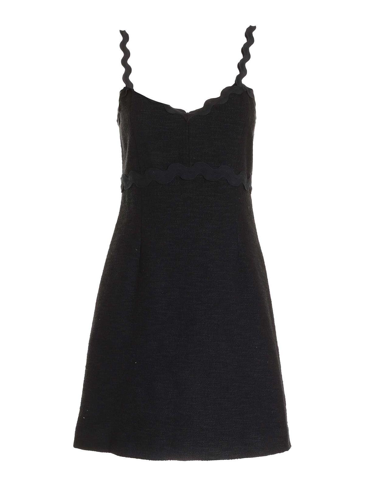 Pinko Cottons IMPAVIDO DRESS IN BLACK