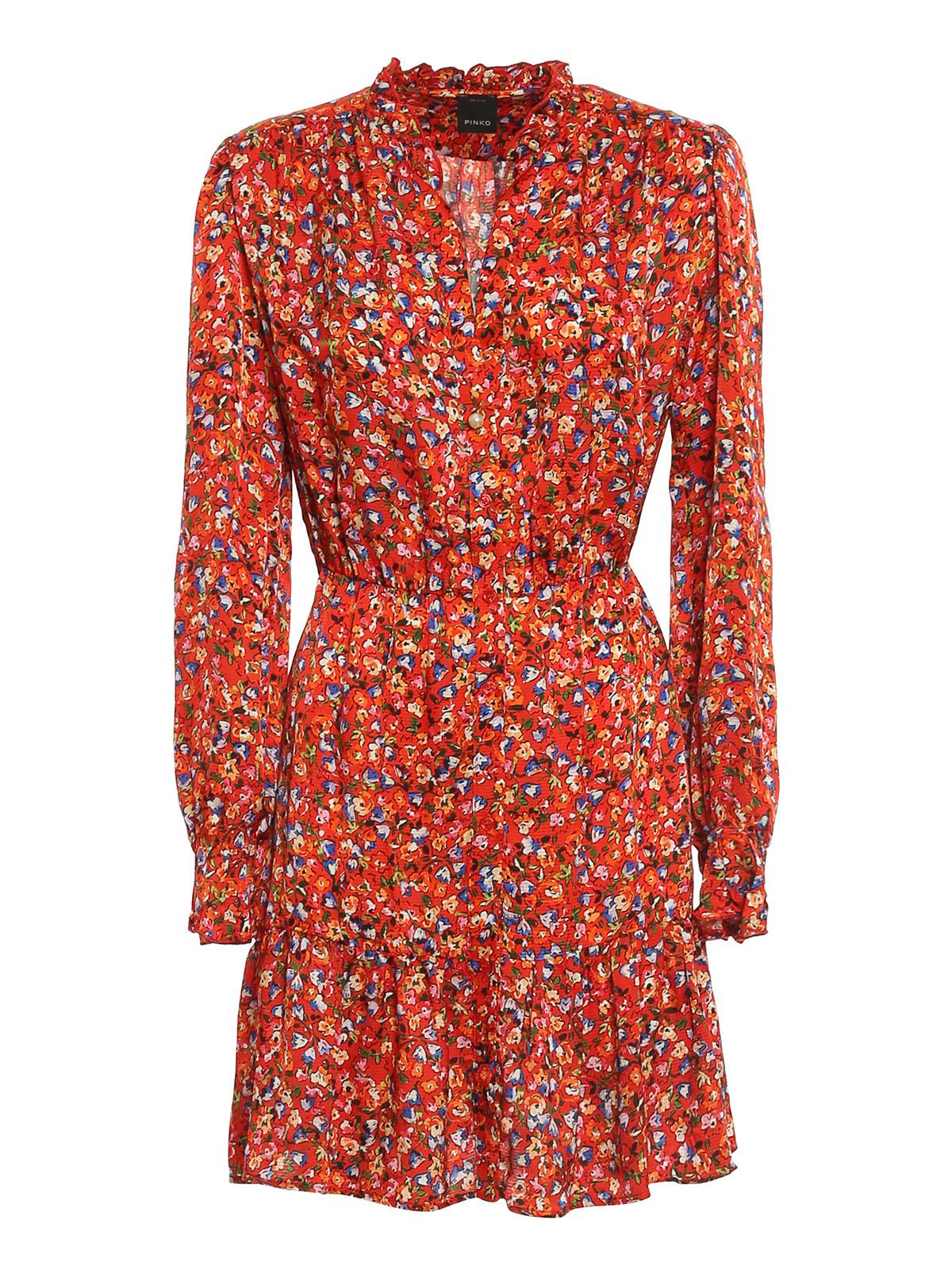 Pinko Downs NOMADE SATIN SHIRT DRESS