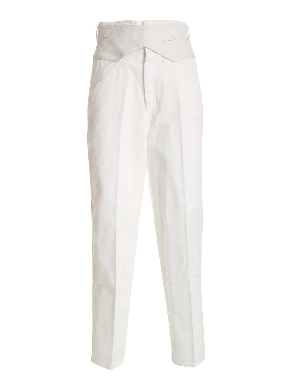 Pinko Cottons SHELBY 2 SLIM JEANS IN WHITE