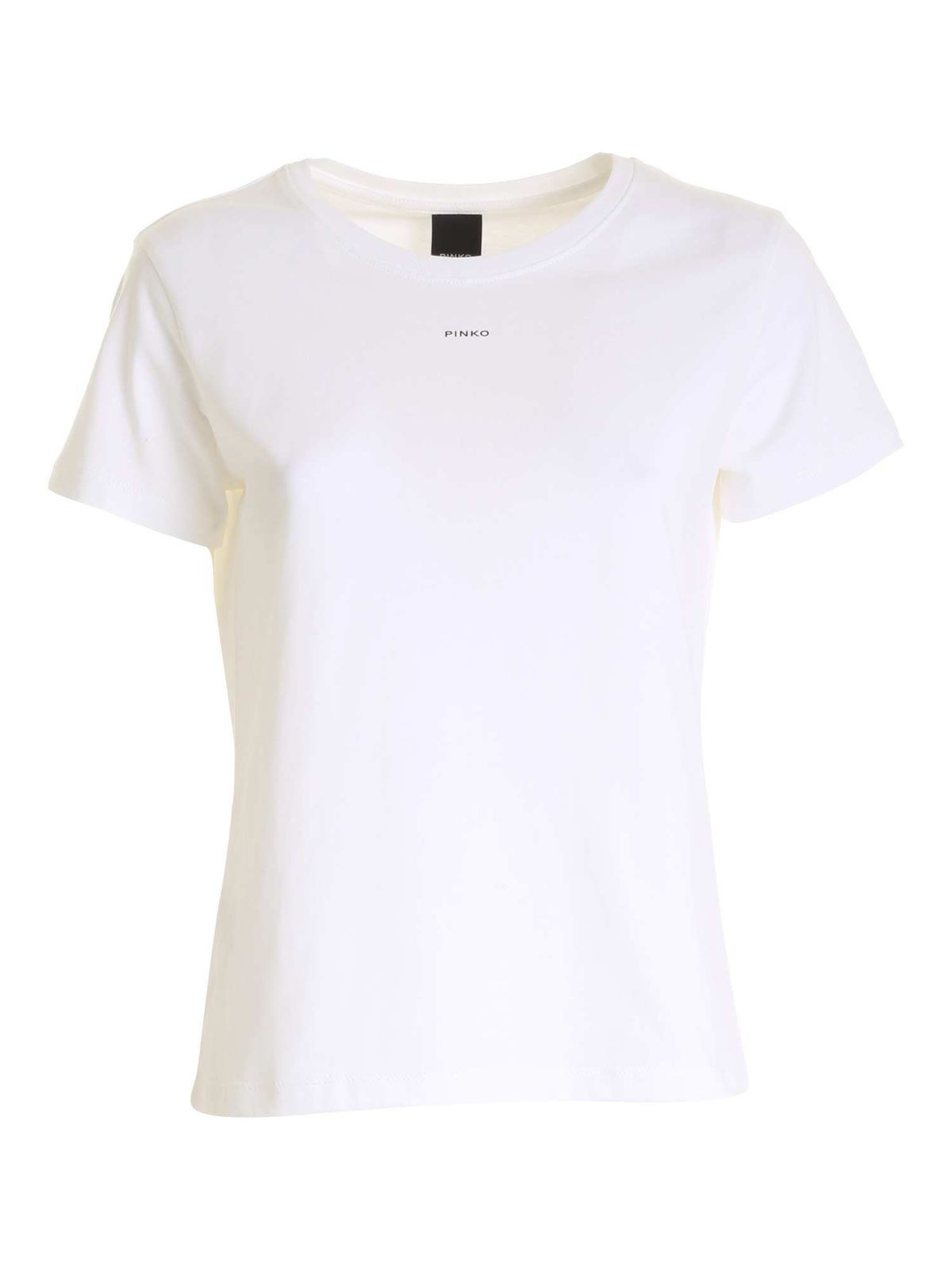 PINKO BASIC T-SHIRT IN WHITE