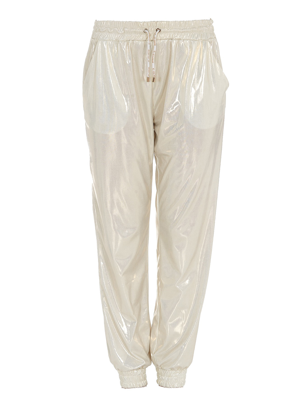 Pinko LAMINATED FABRIC PANTS