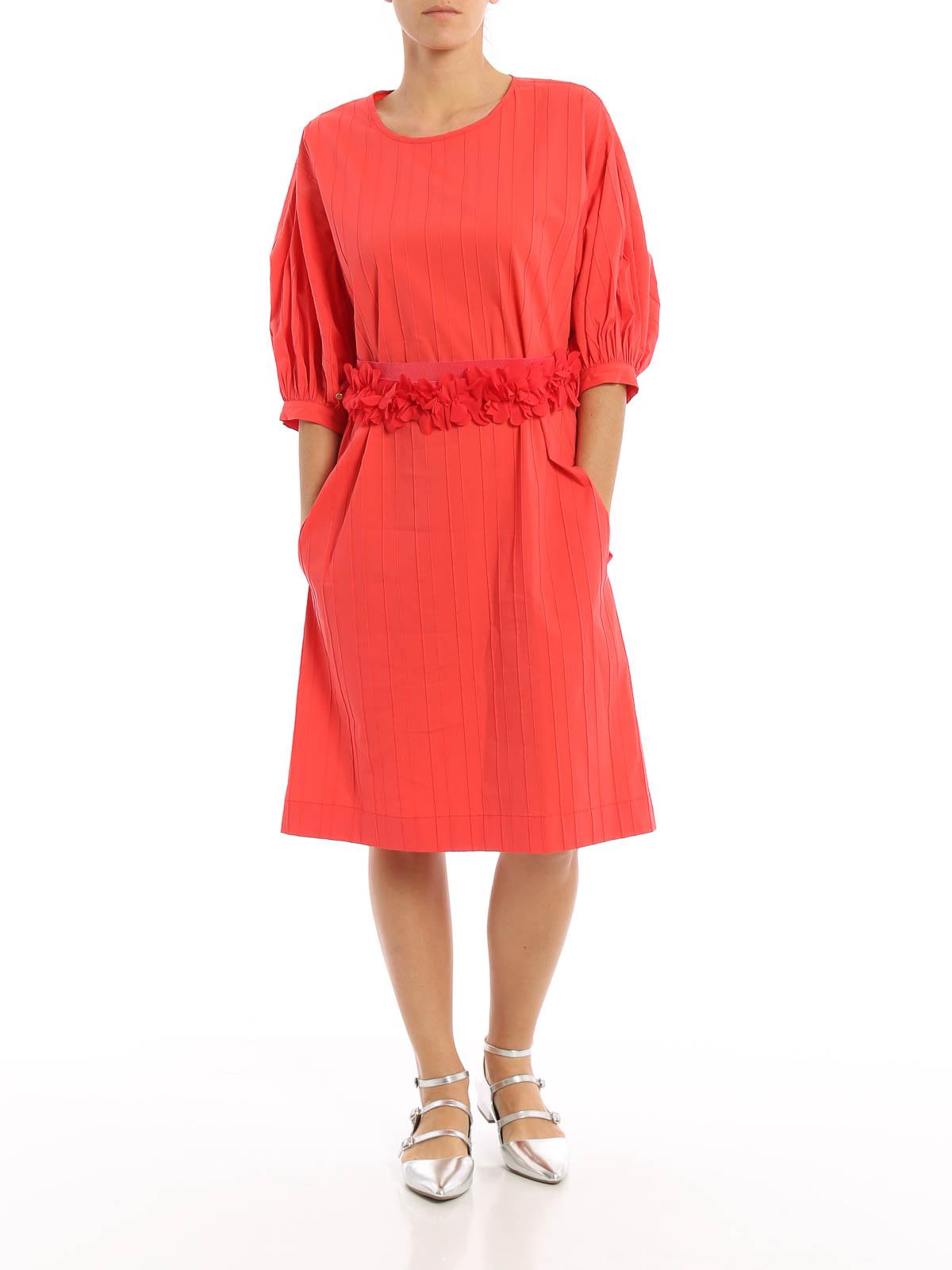 Blumarine - Knielanges Kleid - Koralle - Knielange Kleider - 10