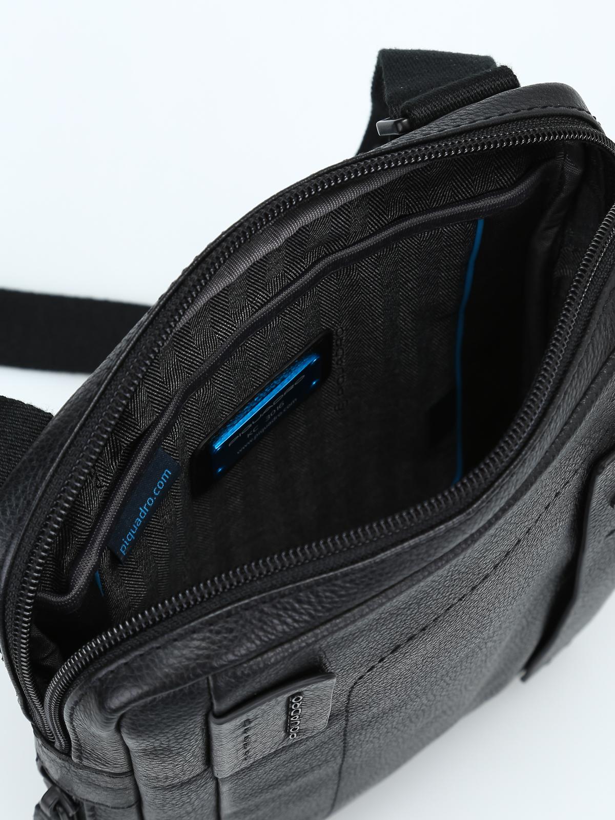 Piquadro - Borsa a tracolla porta iPad nera - borse a tracolla ... 0dd25e80178