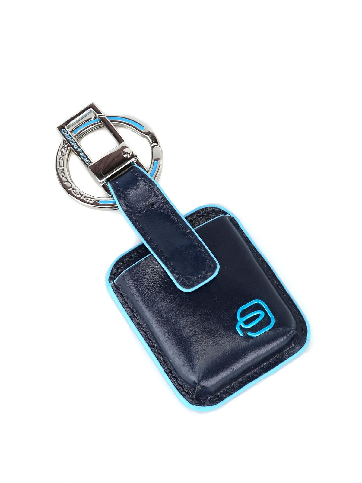 Piquadro Blue Square Connequ System Blue Key Holder