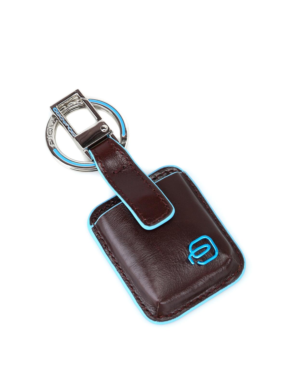 Piquadro Blue Square Connequ System Brown Key Holder