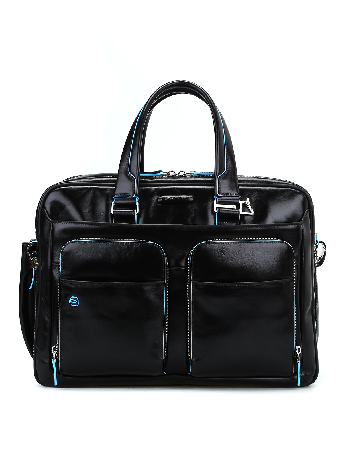 Piquadro - Brushed leather black briefcase