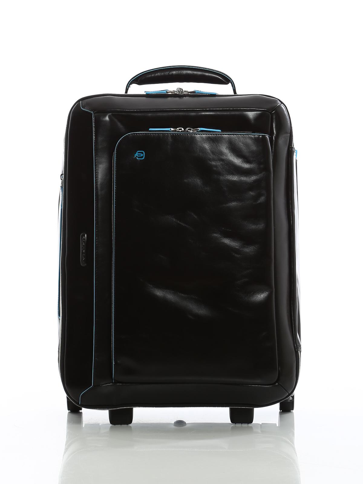 piquadro - bagaglio da cabina in morbida pelle - borse da viaggio