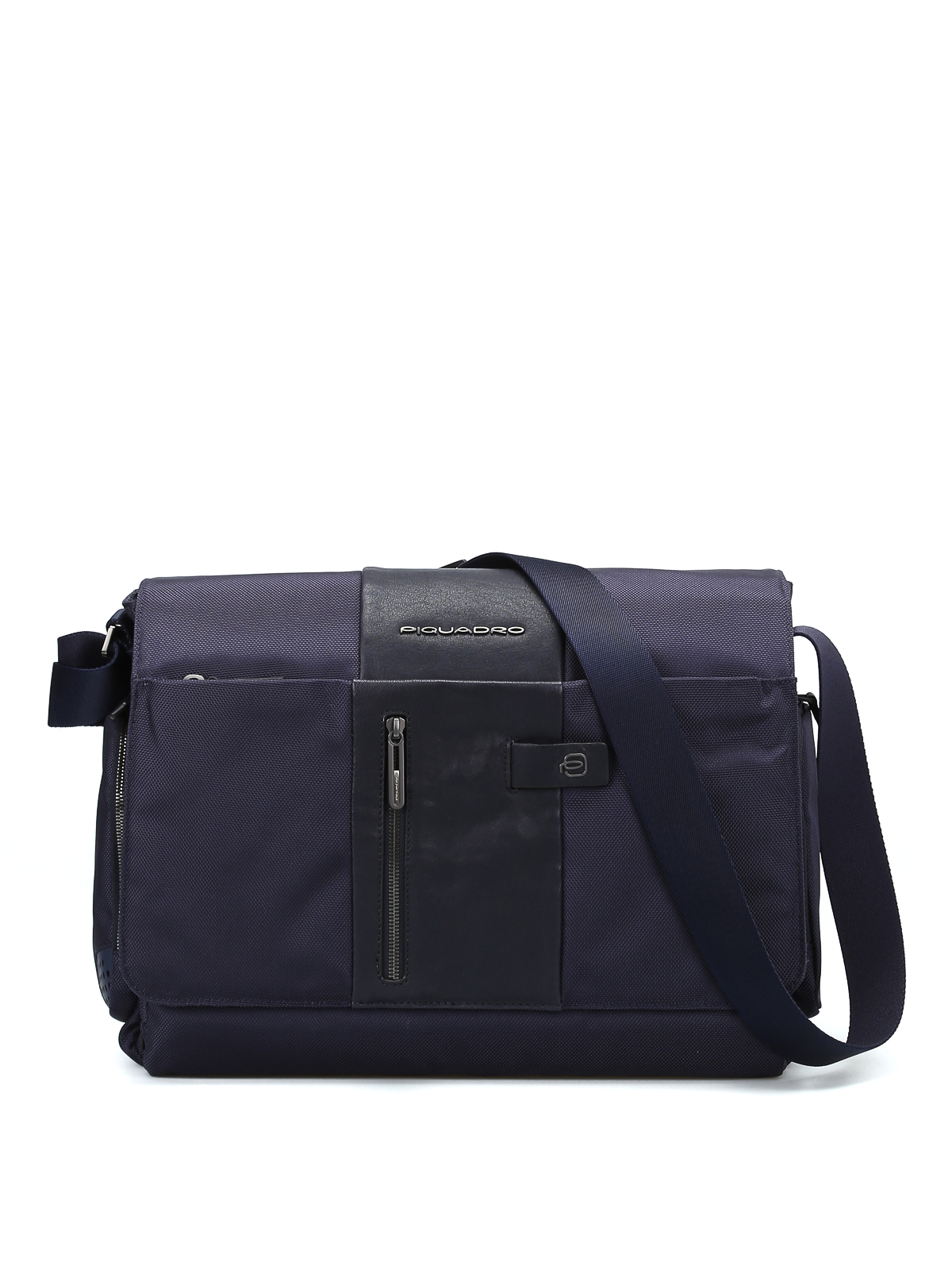 2bc5718e953 Piquadro - Leather and techno fabric messenger - shoulder bags ...