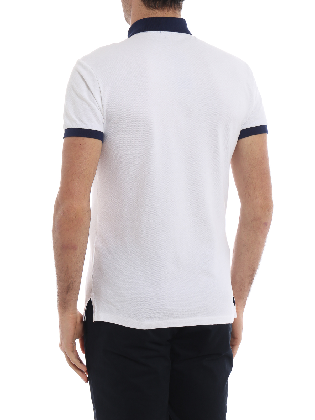 hot sale online edf95 544ec Polo Ralph Lauren - Pique cotton polo shirt with blue ...