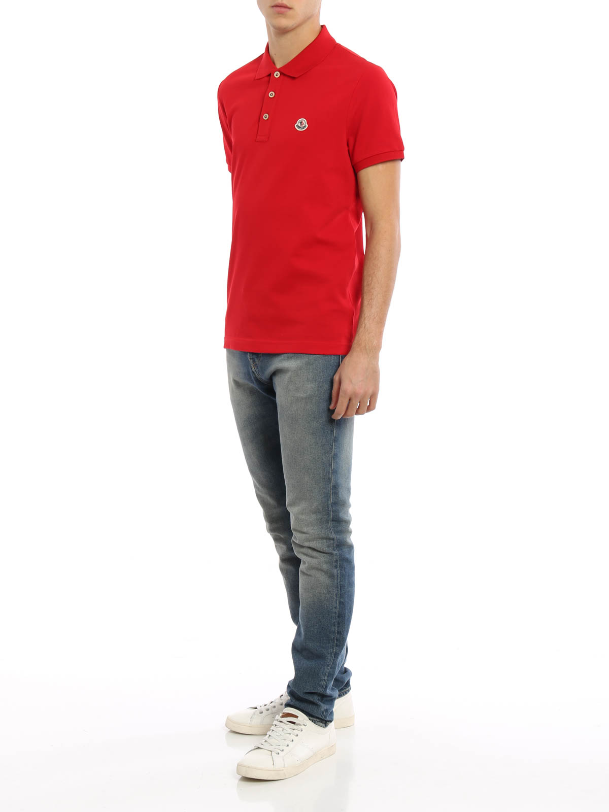 polo moncler rouge homme