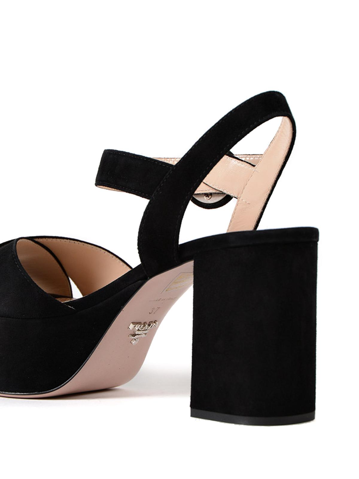 black suede sandal