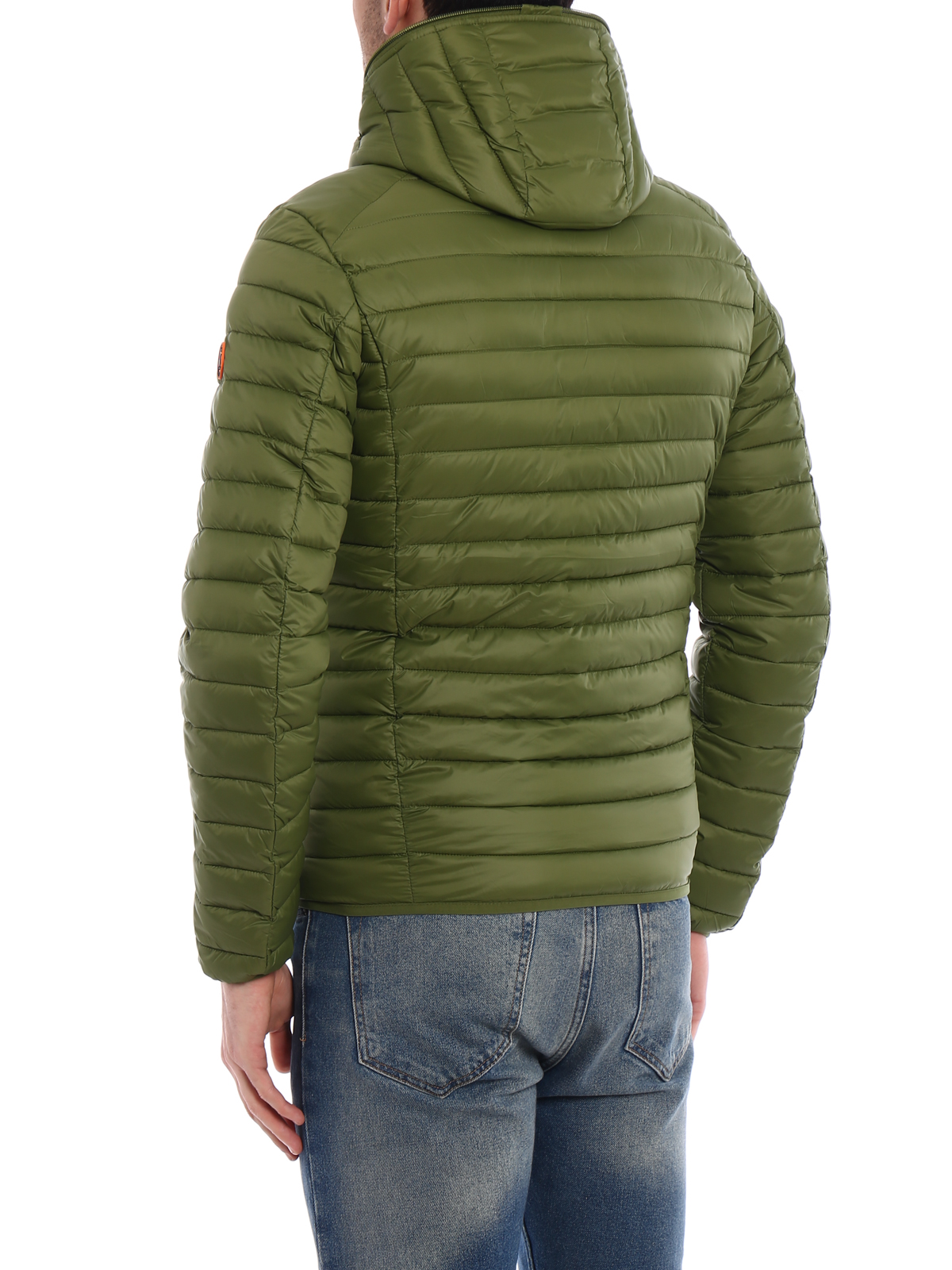 bd47887a Save the Duck - Pocketable mud green puffer jacket - padded jackets ...