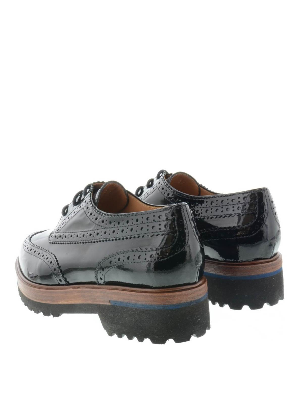 huge discount 492e2 44939 Parlanti - Allacciate in pelle verniciata - scarpe stringate ...