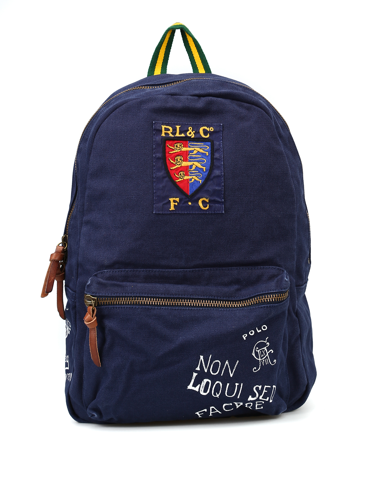 ba1ae881f86 POLO RALPH LAUREN  backpacks - Printed blue canvas backpack with patch