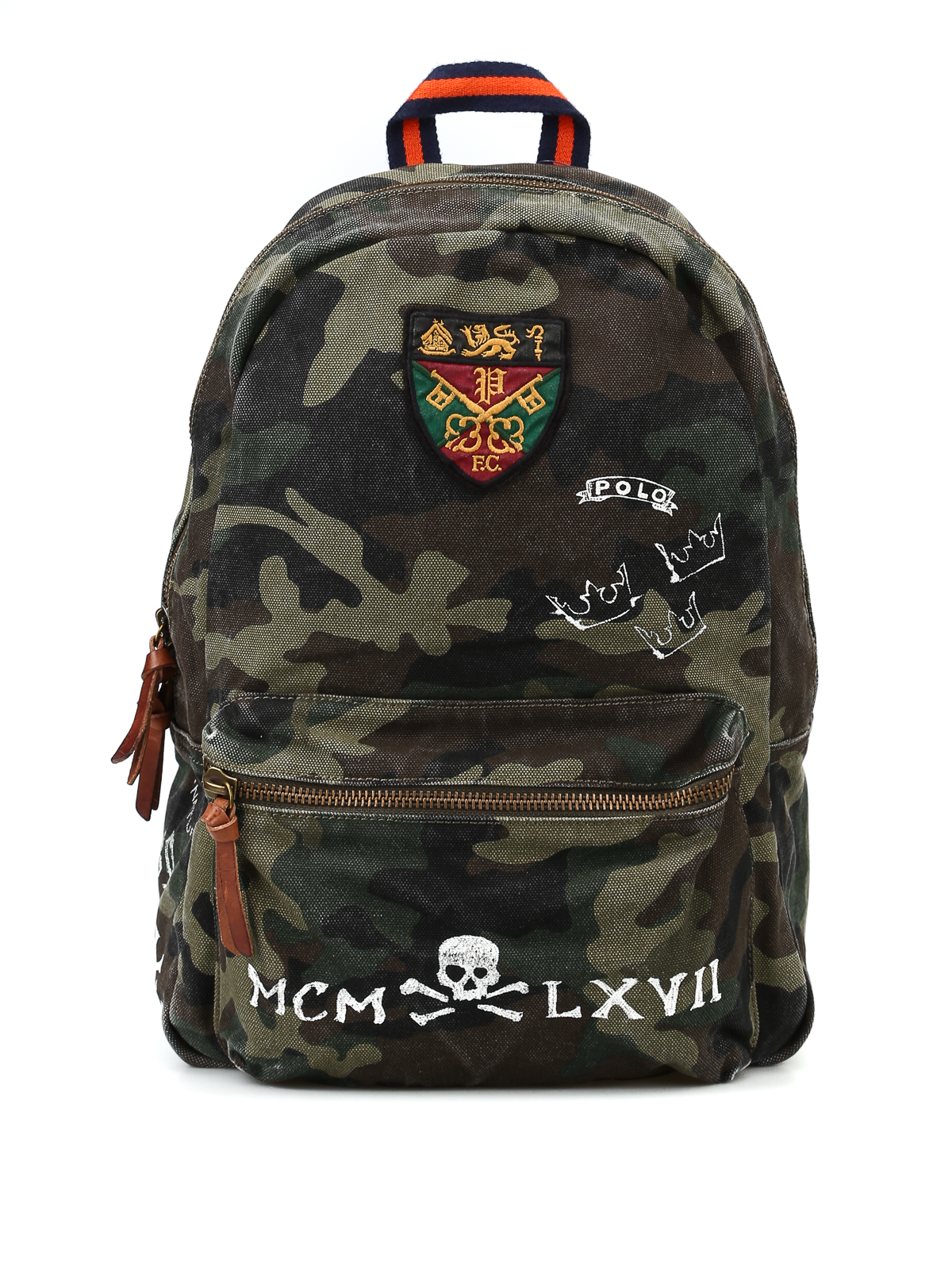 3e7a62a6583 POLO RALPH LAUREN  backpacks - Printed camu canvas backpack with patch