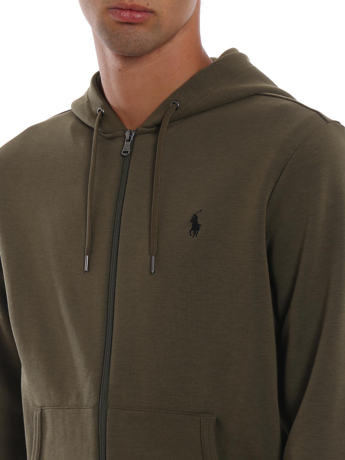 5ad94399c POLO RALPH LAUREN buy online Army green classic cotton blend zip hoodie