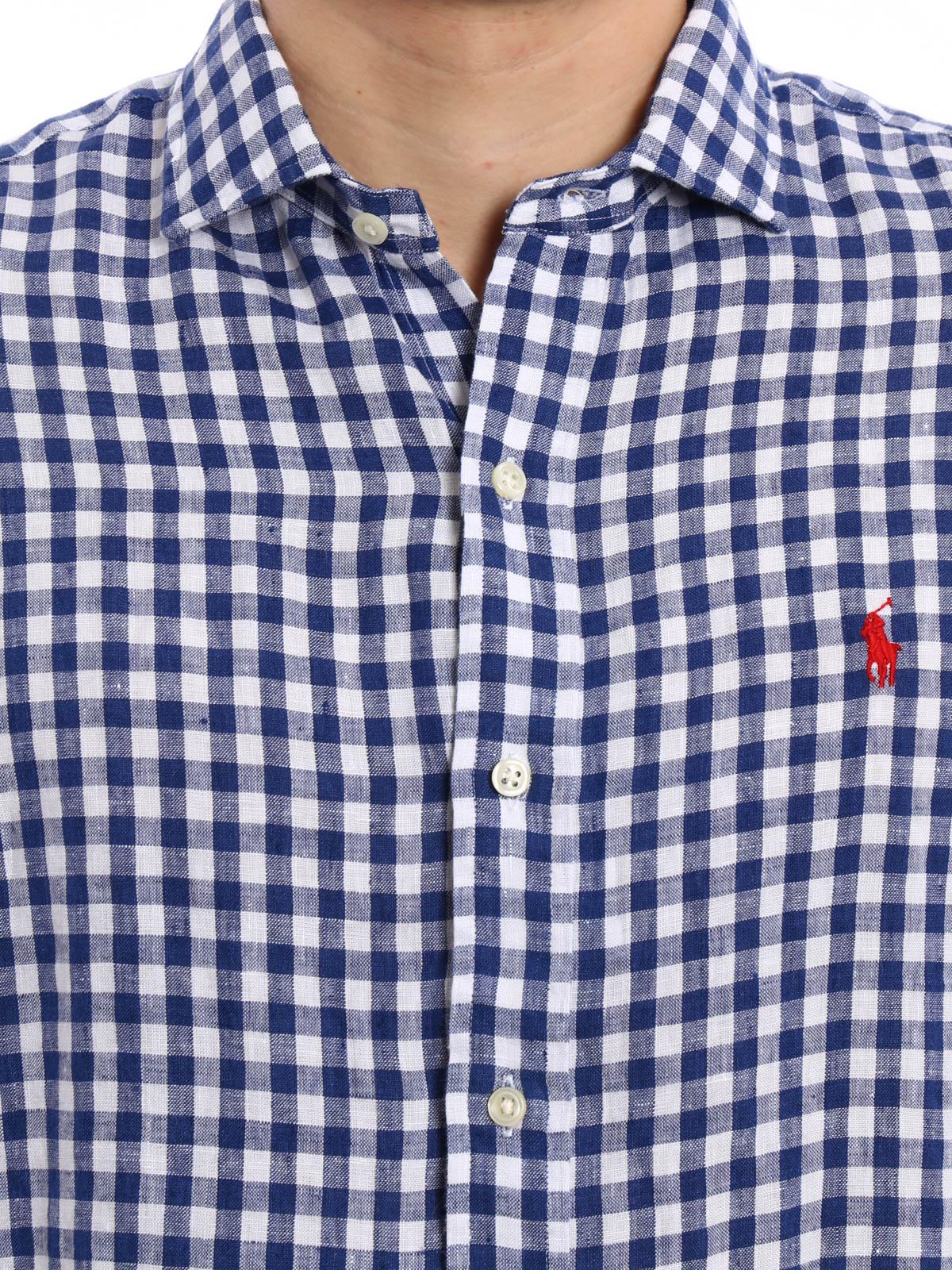 d9b9599eba Polo Ralph Lauren - Camicia di lino a quadretti - camicie - A04 ...