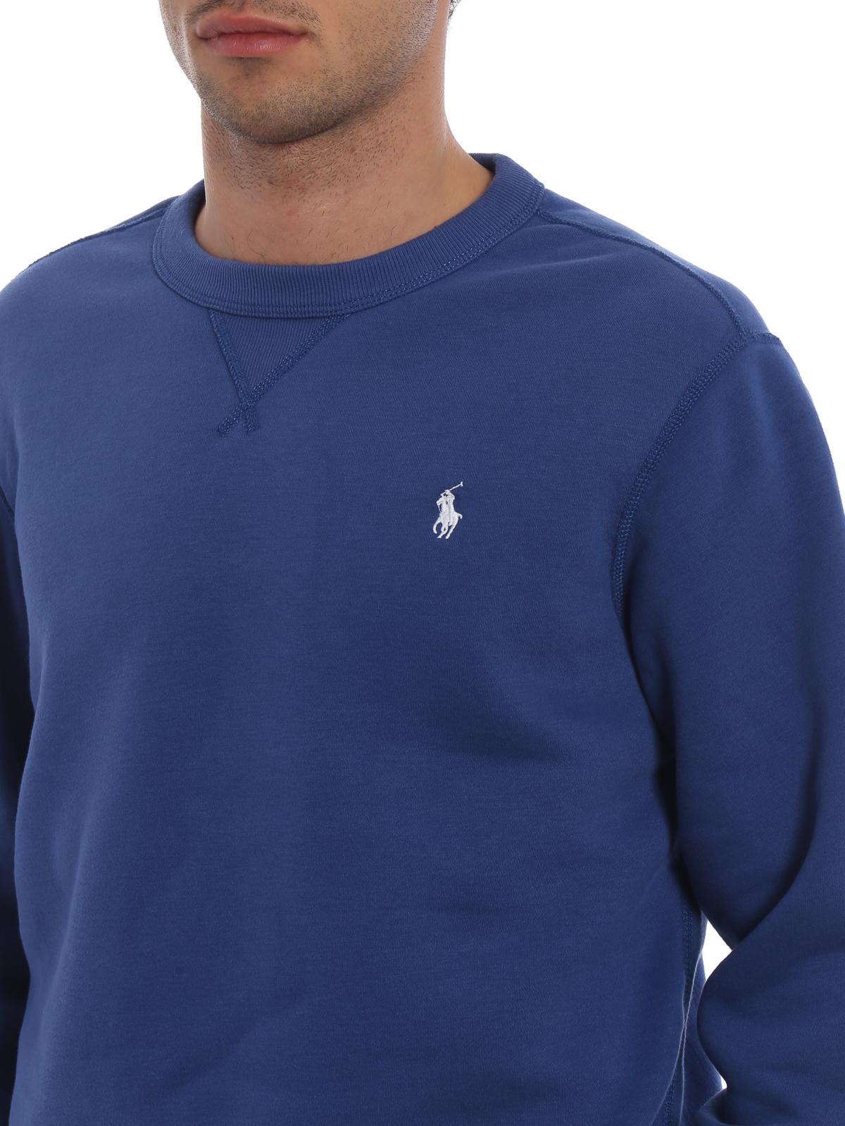 sale retailer fcb96 2812e Polo Ralph Lauren - Cornflower blue cotton blend sweatshirt ...