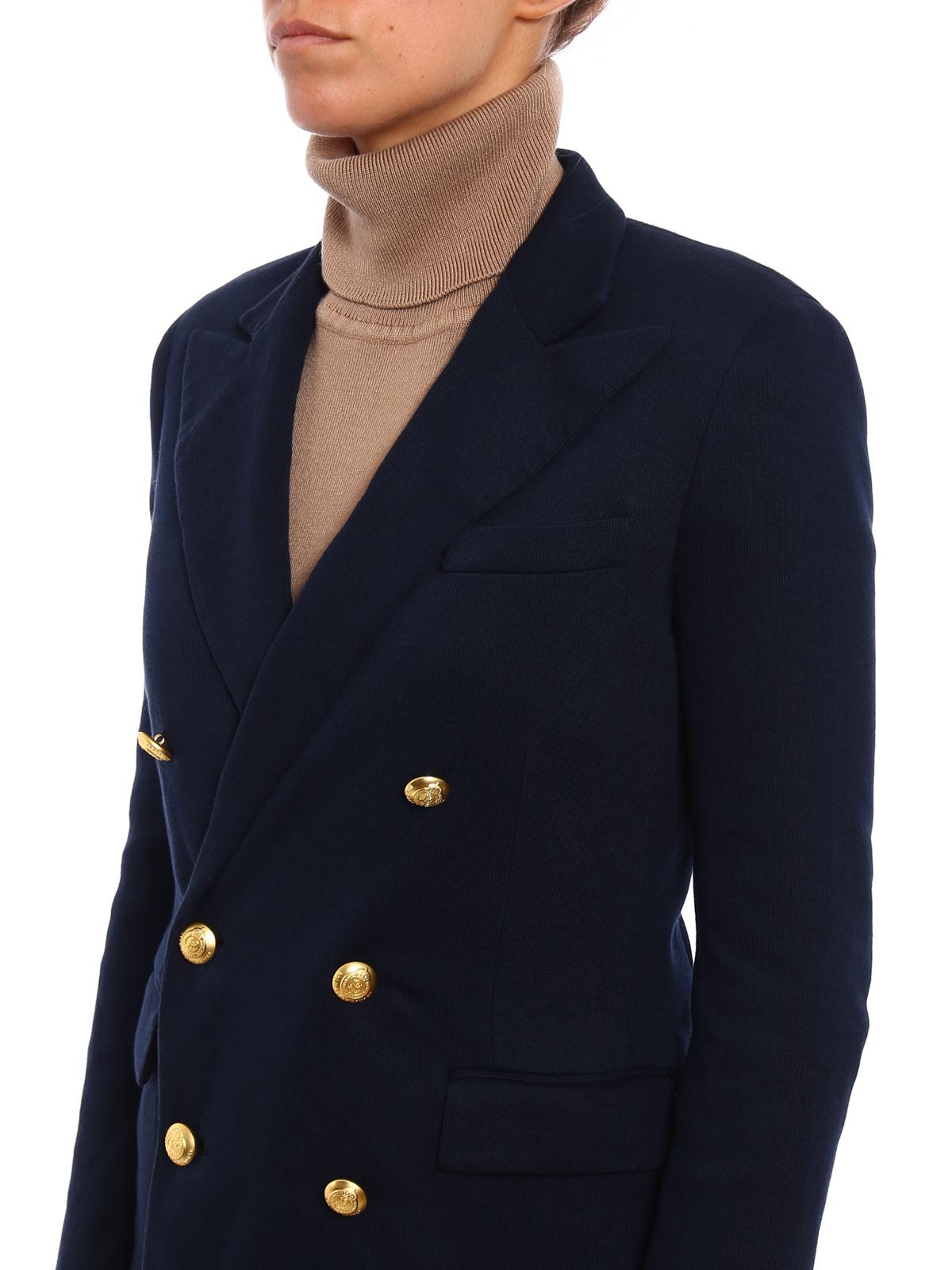 super popular f457b 519f7 Polo Ralph Lauren - Giacca doppiopetto in maglia - giacche ...