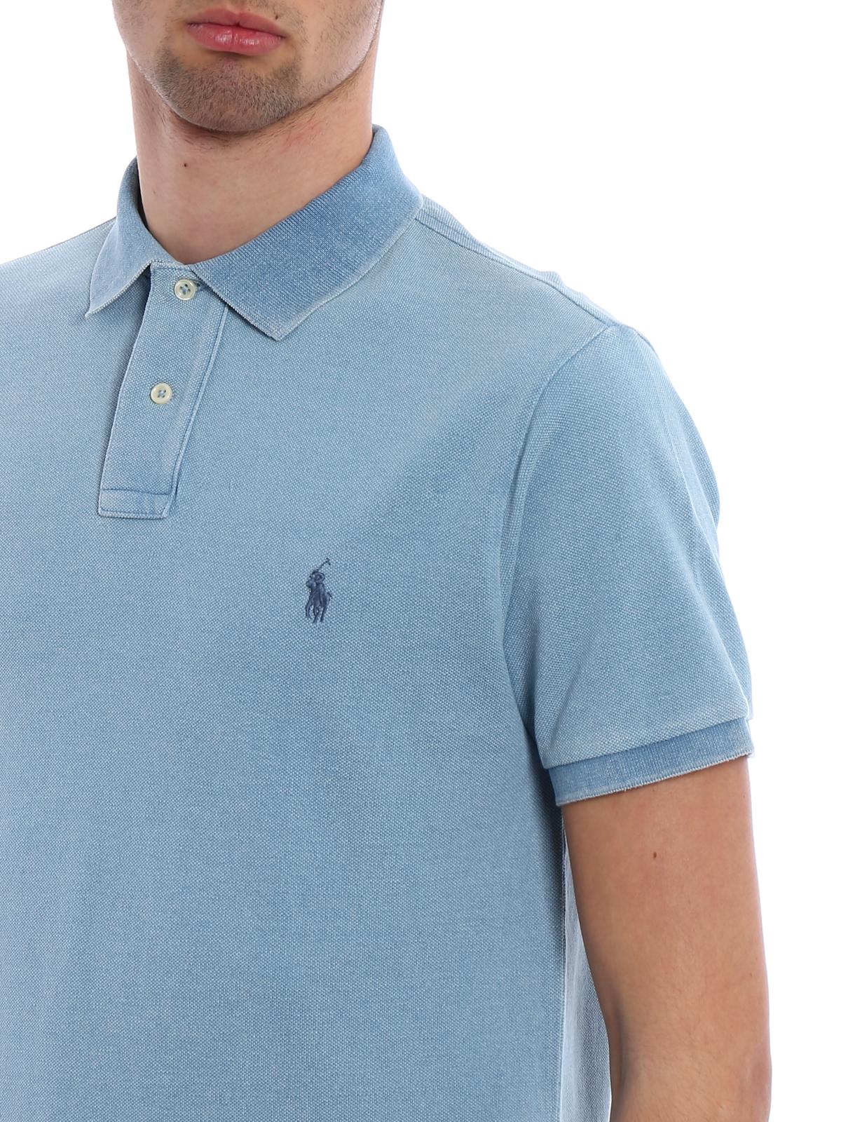 Ralph Lauren 710651933057 Polos Polo Bleu Clair SVzpqUMG