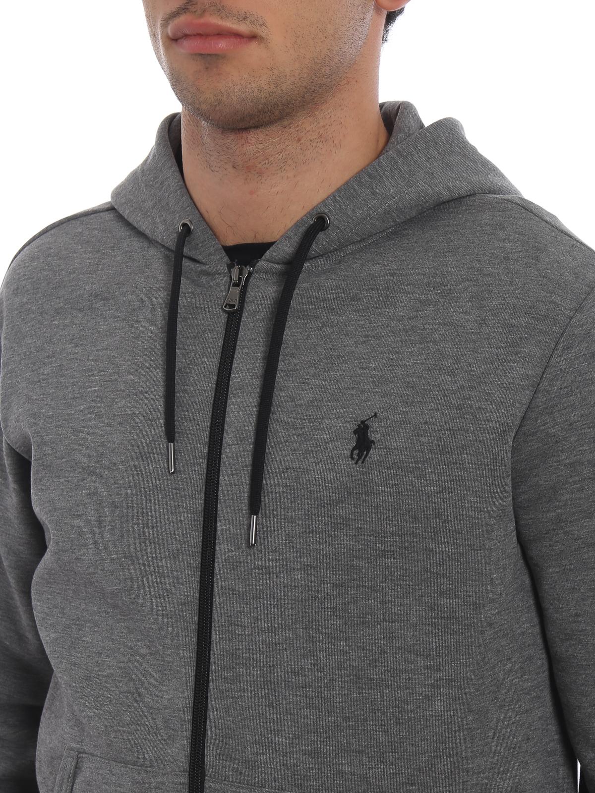 6caa522d55c Polo Ralph Lauren - Performance grey melange zip-up hoodie ...
