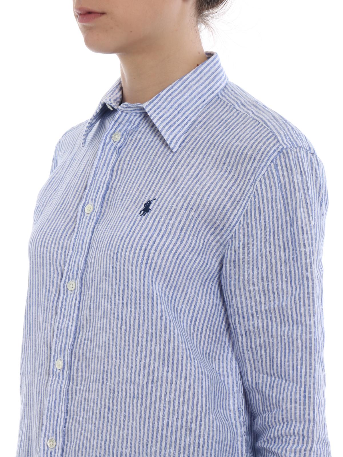 fc0734b6688f Polo Ralph Lauren - Relaxed fit striped linen shirt - shirts ...