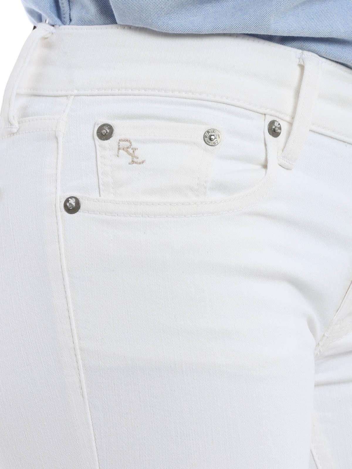 Polo Ralph Lauren Skinny Jeans Fur Damen Weiß Skinny