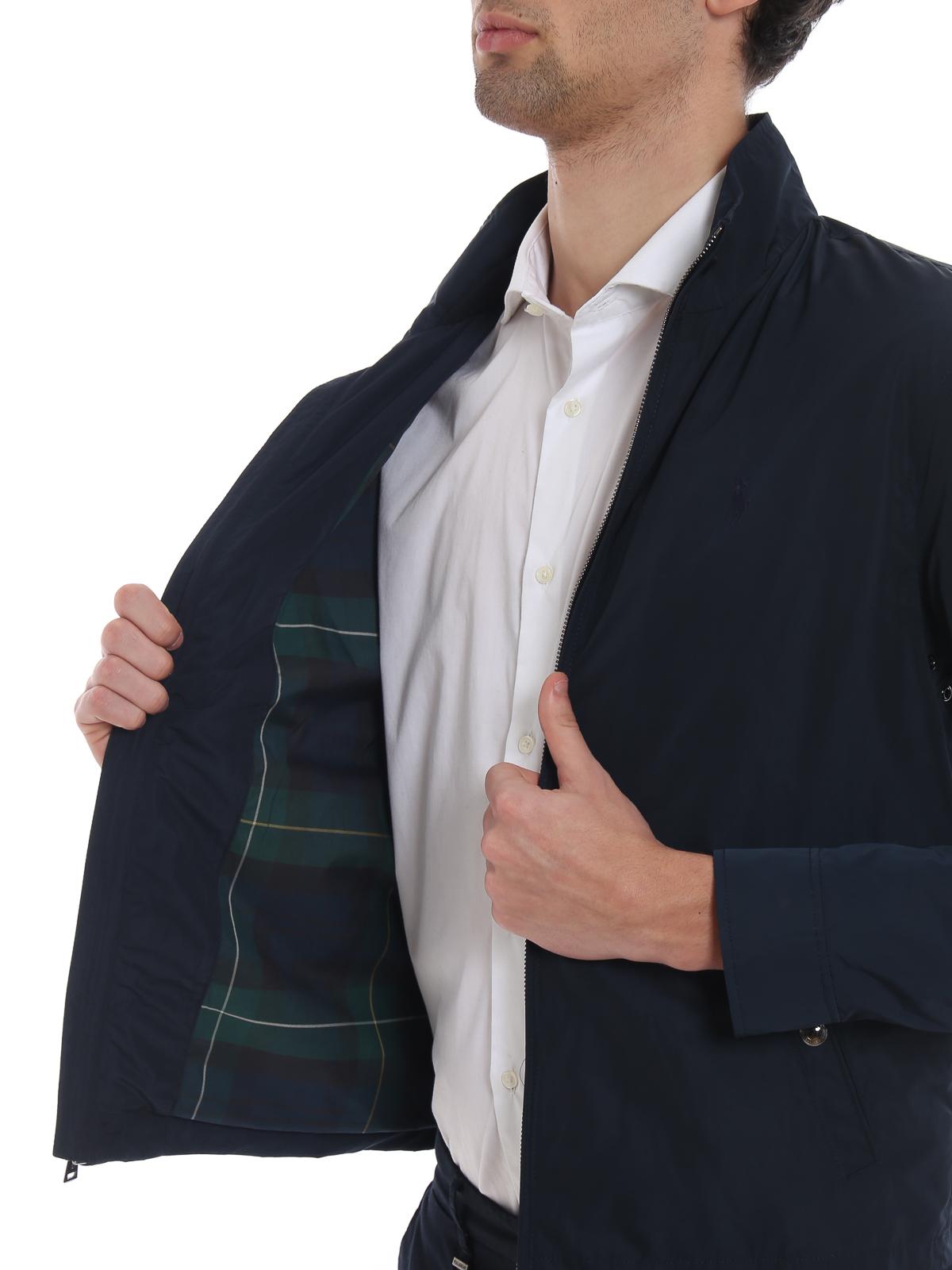 new products 193a5 3207e Polo Ralph Lauren - Giubbotto Surrey in tecno tessuto blu ...