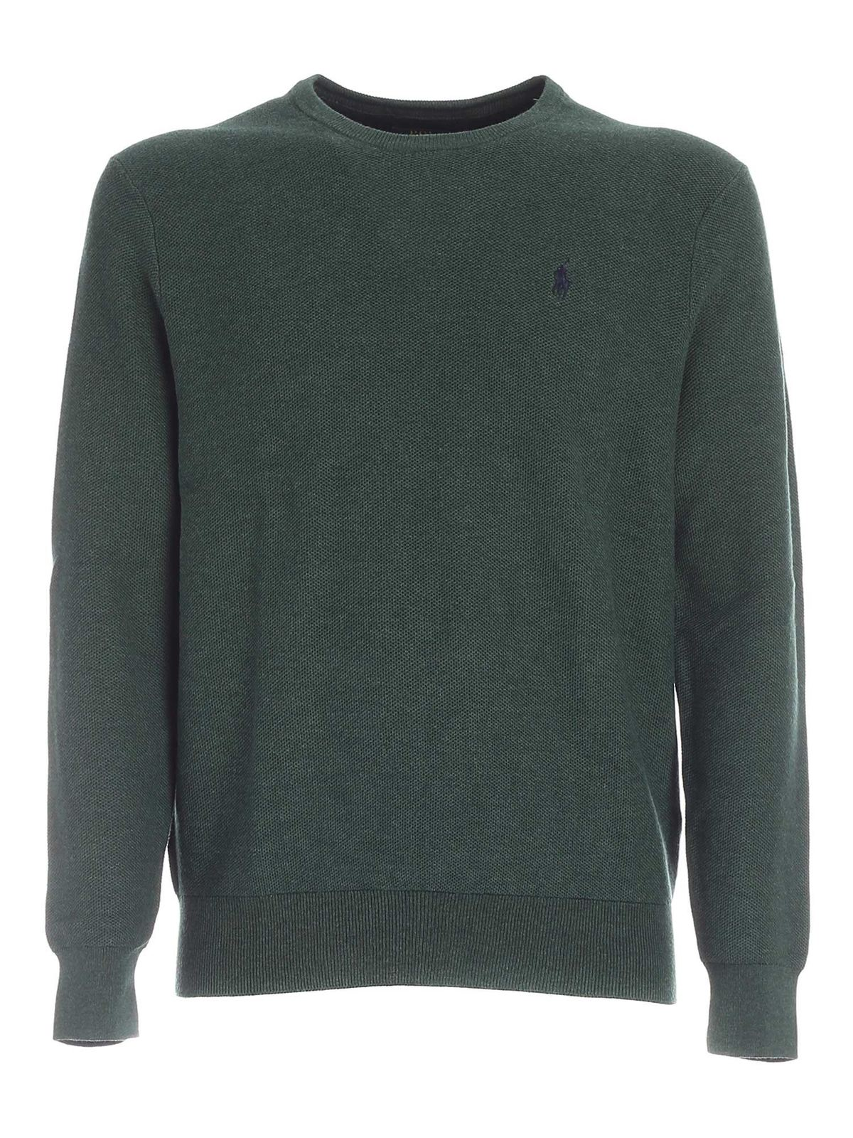 Polo Ralph Lauren BLUE LOGO EMBROIDERY PULLOVER IN GREEN