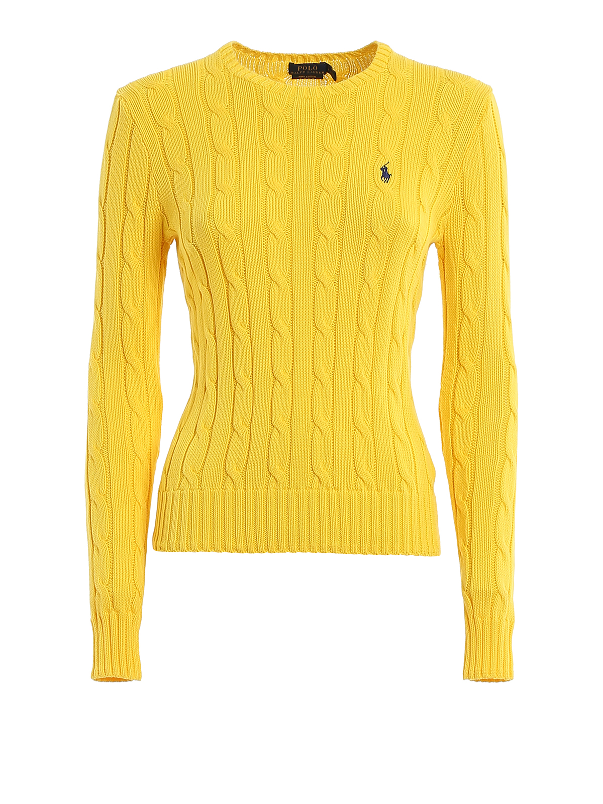 Polo Ralph Lauren YELLOW TWIST KNIT COTTON SWEATER