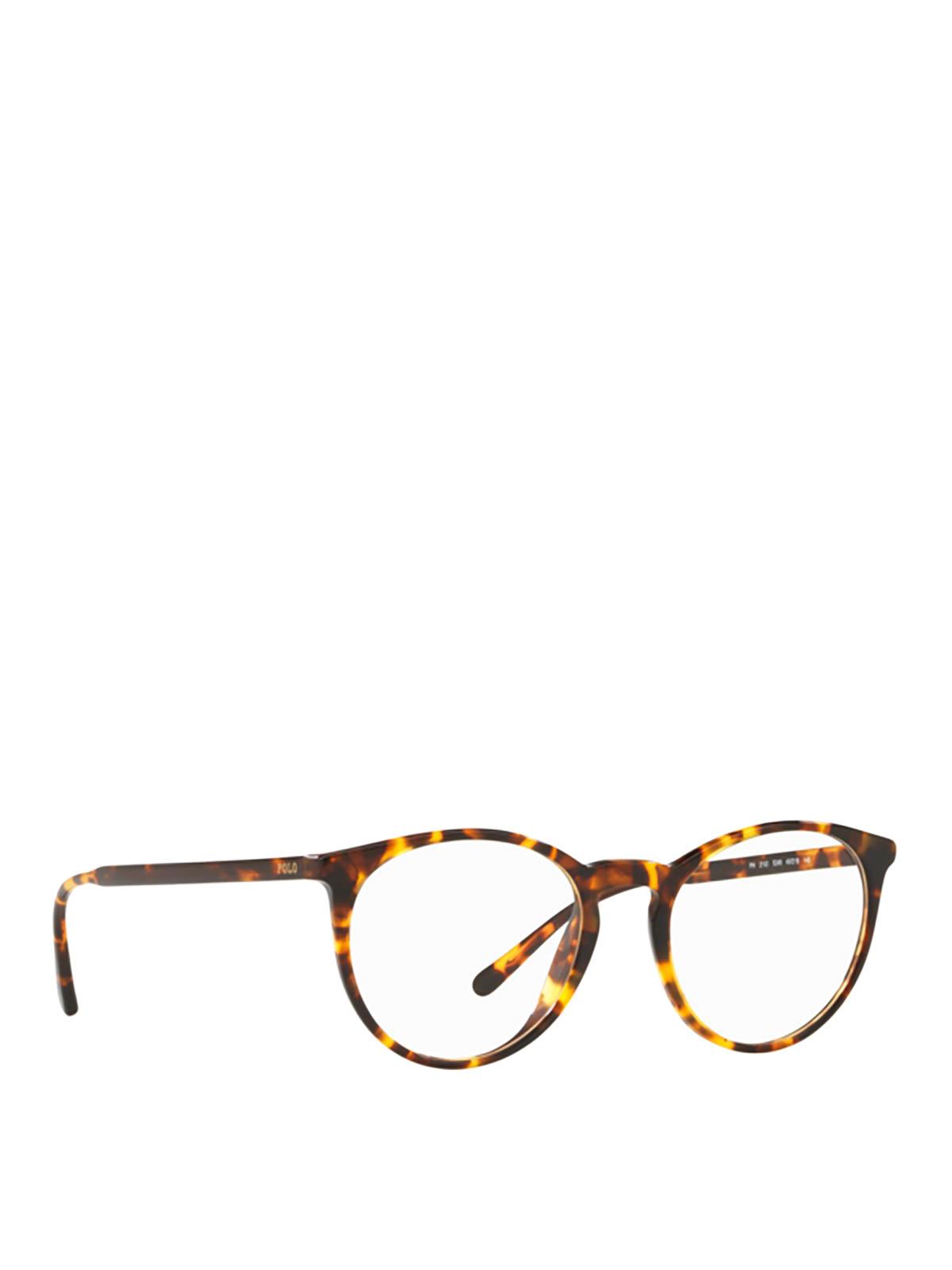 Polo Ralph Lauren Tortoiseshell Optical Glasses In Light Brown
