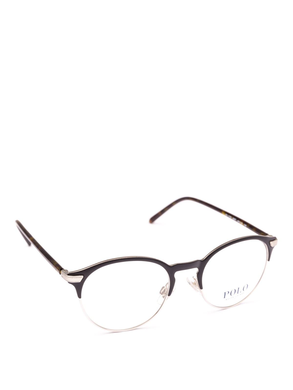 And Black Ralph Metal Framed Polo Lauren Glasses Acetate Half fbyYg7v6