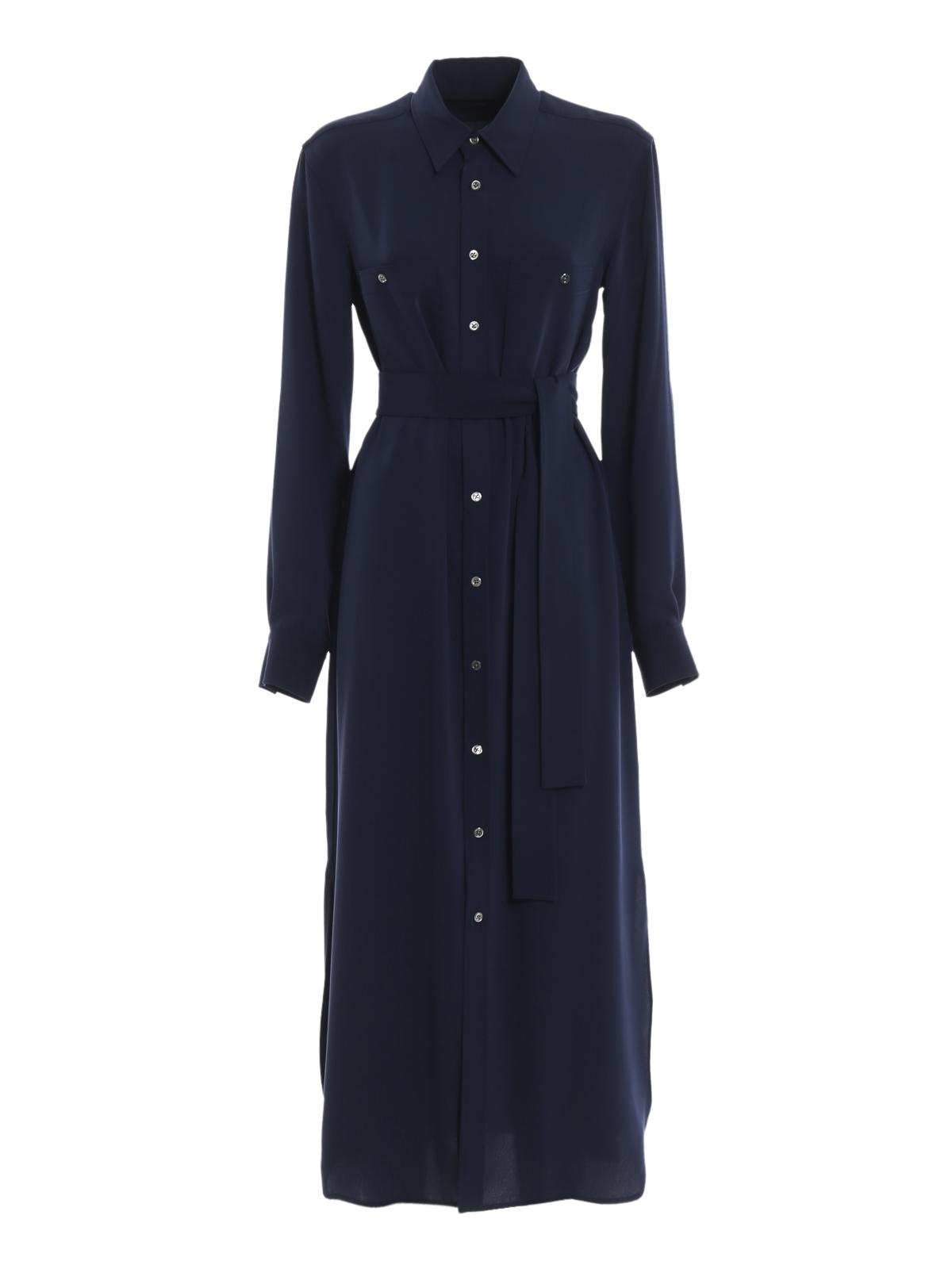 Polo Ralph Lauren Vestido Largo Azul Oscuro Vestidos
