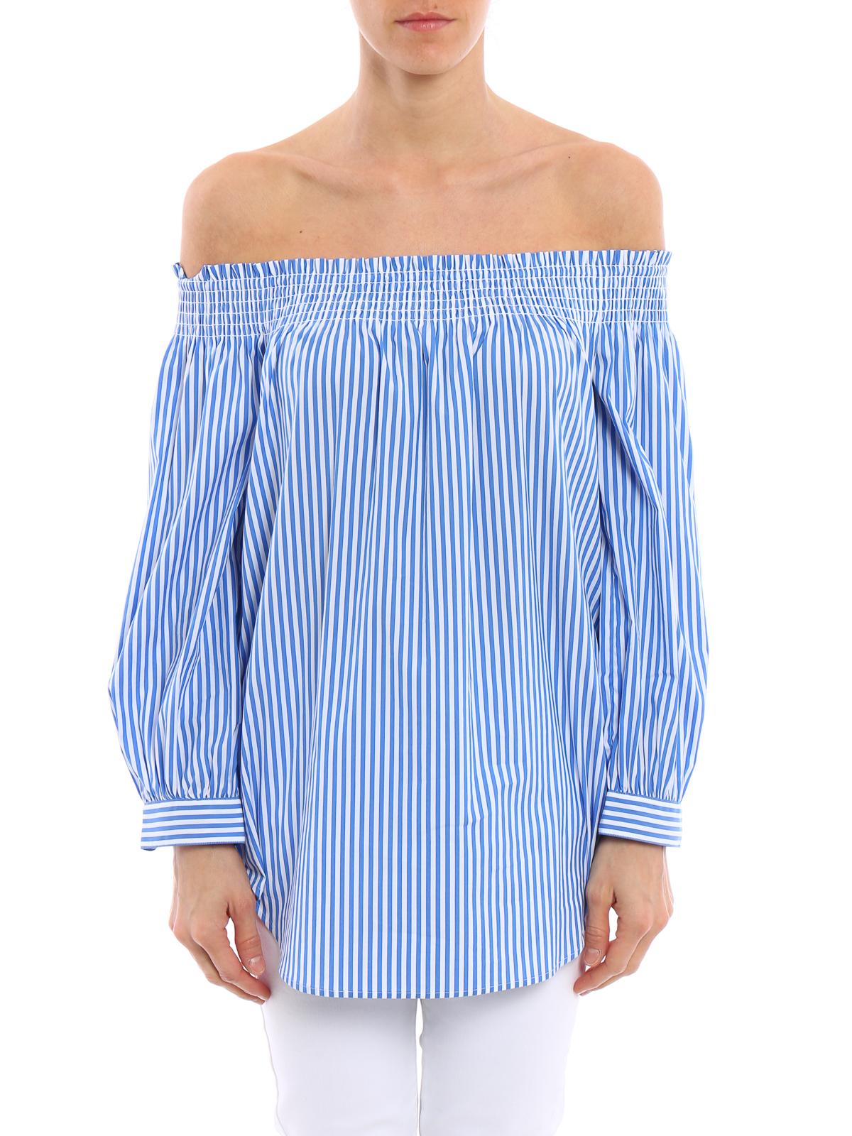 08c2ff3d191a16 POLO RALPH LAUREN  blouses online - Striped off the shoulder blouse