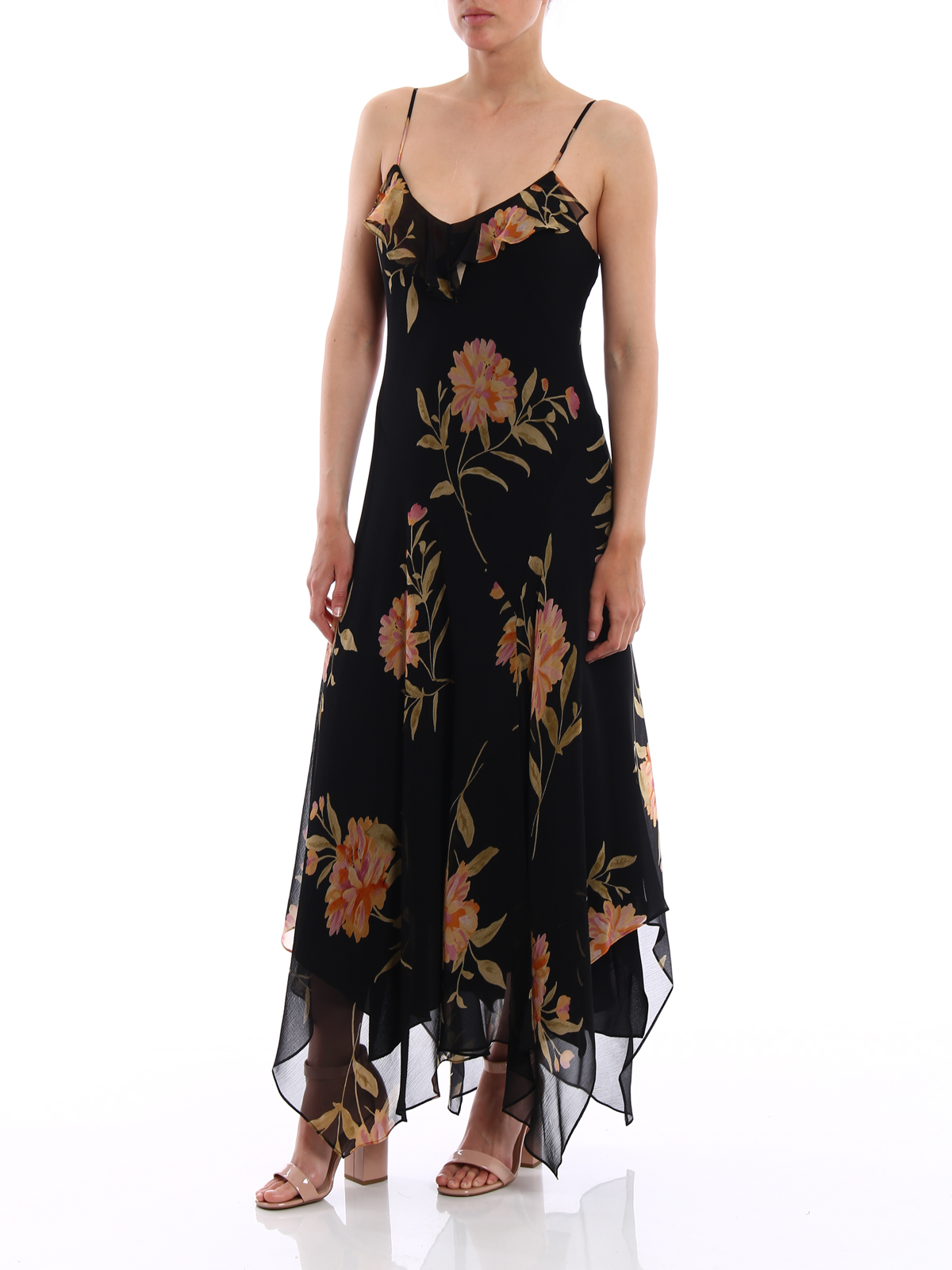 POLO RALPH LAUREN: maxi dresses online - Floral silk georgette maxi dress