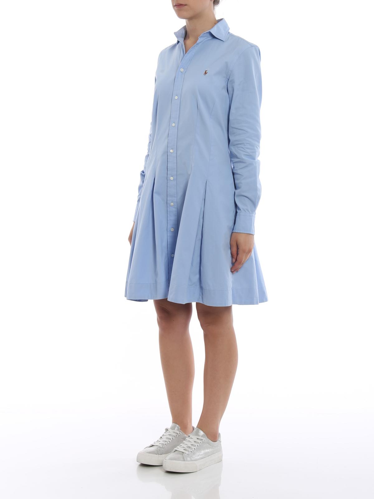 Polo Ralph Lauren Oxford Cotton Shirt Dress Short Dresses